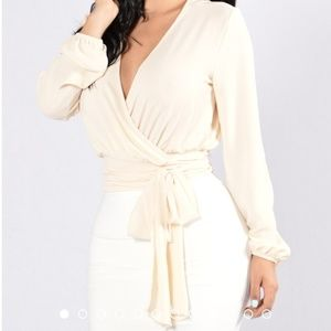 Dark Ivory wrap shirt